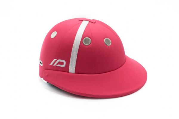 Instinct Polo Helmet Pink with White Strap and Zinc Grommets